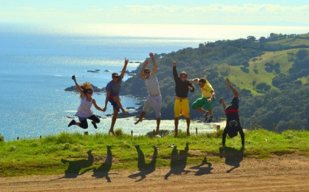 Enjoying the nature in paradise Waiheke Island photo by Milagros Villami