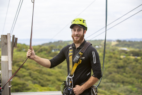 Ecozip guide James McNally one of the faces of Go with Tourism Aug 2019